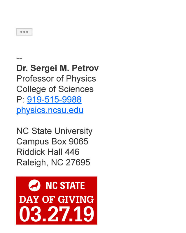 Example of correct implementation of Day of Giving email signature
